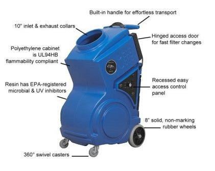 PREDATOR® 1200 Portable Air Scrubber